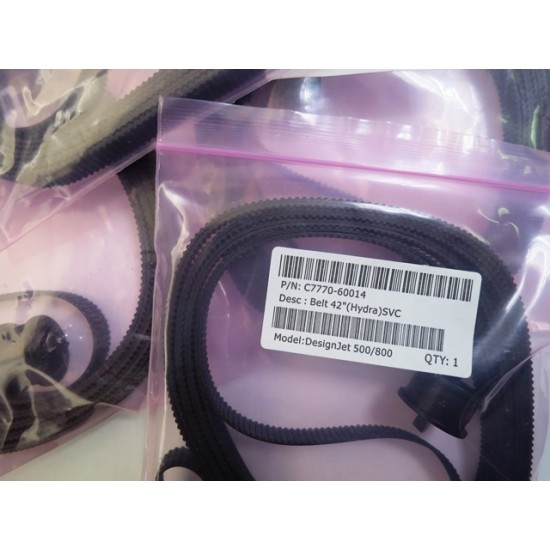 C7770-60014- Curea plotter HP  DesignJet 500/800 A0 42 INCH(Compatibila)(ORDER Q6659-60175 IS THE BELT WITHOUT PULLEY)